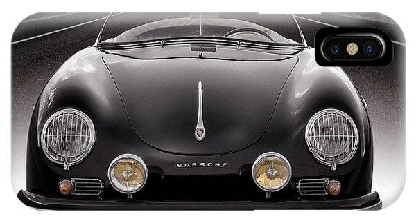Mancave iPhone Case - Black Porsche Speedster by Douglas Pittman