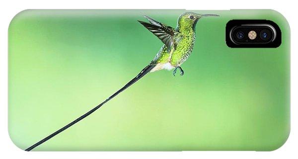 Black-tailed Trainbearer Hummingbird Phone Case by Tony Camacho/science Photo Library