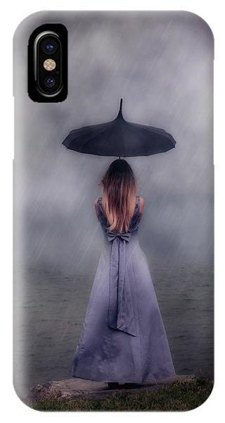 Black Umbrella IPhone Case
