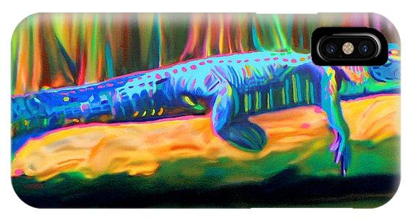 Blue Alligator IPhone Case