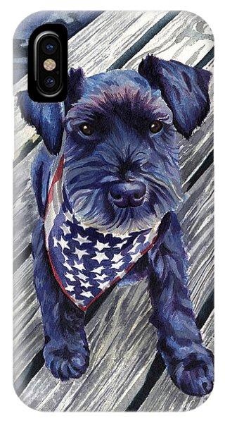 Black Dog On Pier IPhone Case
