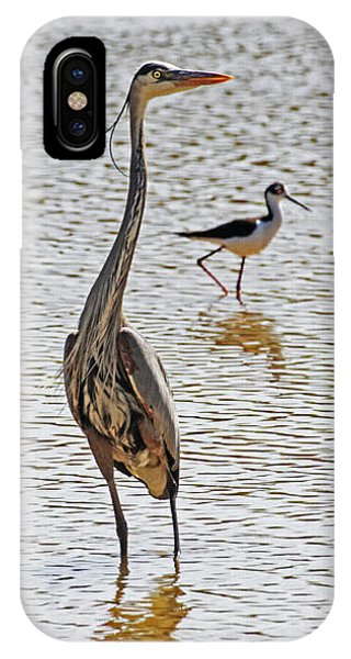 Blue Heron And Stilt IPhone Case