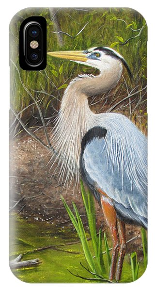 IPhone Case featuring the painting Blue Heron by Tammy Taylor