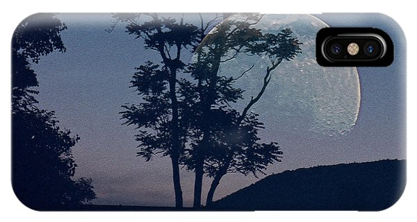 Moon With Trees IPhone Case