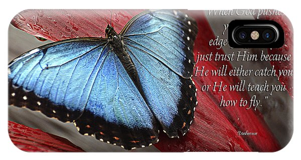 Blue Berry iPhone Case - Blue Morpho 2 by Diane E Berry