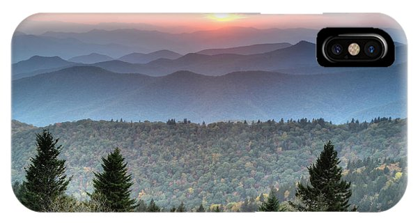 Blue Ridge Mountains Sunset Phone Case by Mary Anne Baker