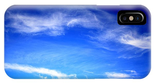 Blue Sky White Clouds IPhone Case