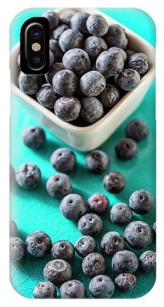 Blue Berry iPhone Case - Blueberries by Aberration Films Ltd