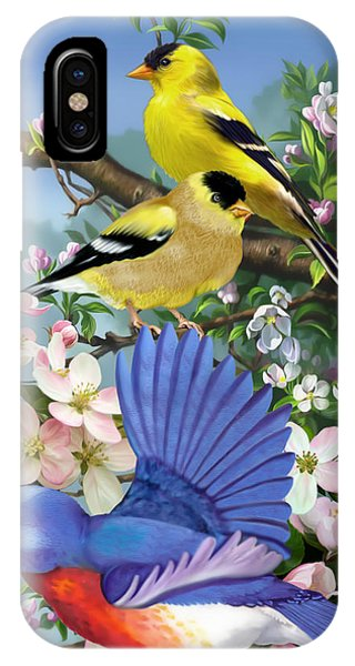 Bluebird And Goldfinch IPhone Case