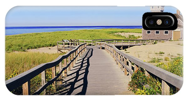 Chatham iPhone Case - Boardwalk Leading Towards Old Harbor by Panoramic Images
