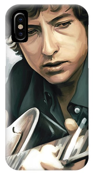 Bob Dylan iPhone Case - Bob Dylan Artwork by Sheraz A