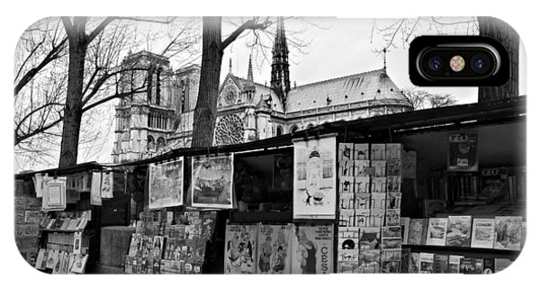 IPhone Case featuring the photograph Book Sellers By The Seine / Paris by Barry O Carroll