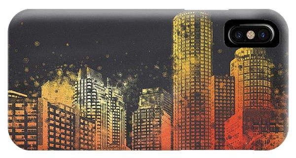 Boston City Skyline IPhone Case