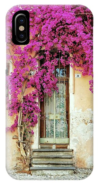 Bougainvillea Doorway IPhone Case