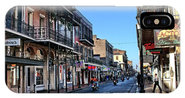 Oyster Bar iPhone Case - Bourbon Street Afternoon by Greg and Chrystal Mimbs