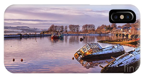 Drown iPhone Case - Bowling Harbour Panorama 02 by Antony McAulay