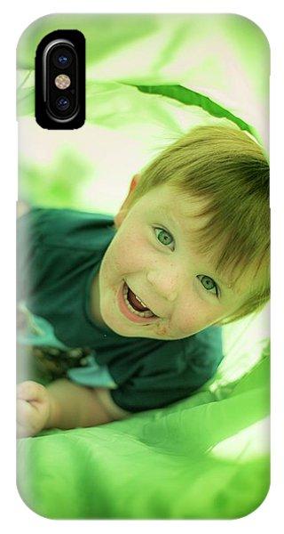Boy In Green Tunnel Phone Case by Samuel Ashfield