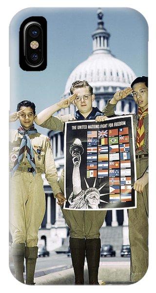 Rous iPhone Case - Boy Scouts, 1943 by Granger