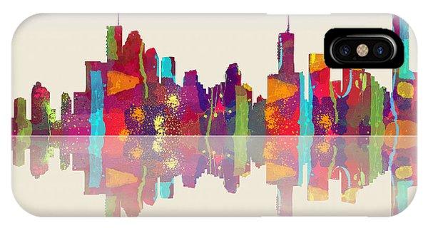Brisbane Australia Skyline IPhone Case
