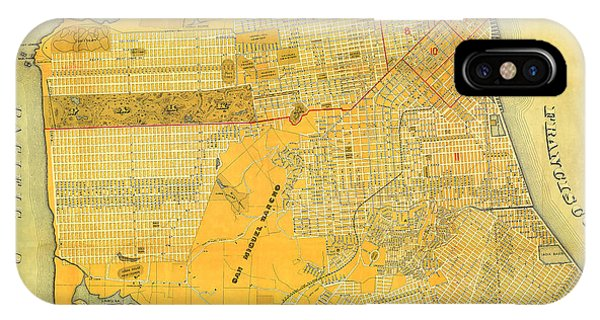 Britton And Reys Guide Map Of The City Of San Francisco. 1887. IPhone Case