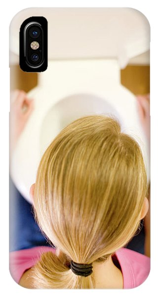 Toilet iPhone Case - Bulimia by Ian Hooton/science Photo Library