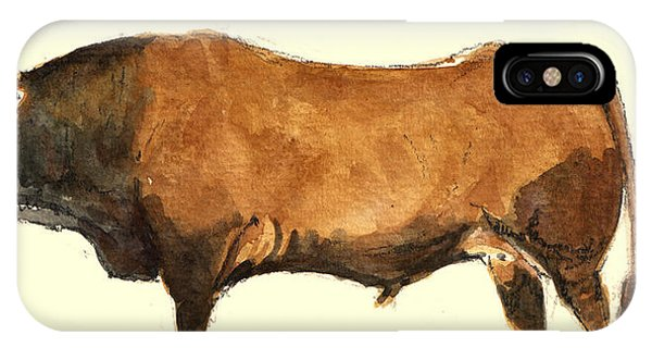 Bull iPhone Case - Bull by Juan  Bosco
