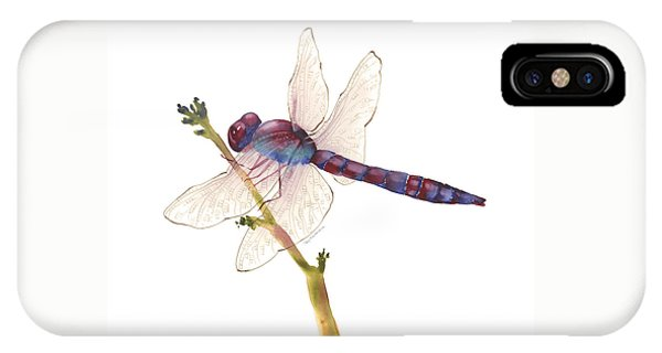 Burgundy Dragonfly  IPhone Case