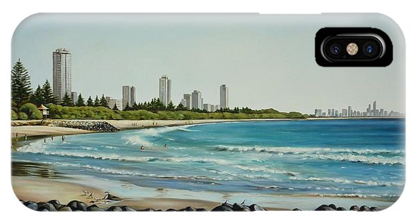 Burleigh Beach 210808 IPhone Case