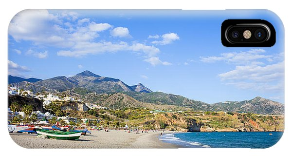 Burriana Beach In Nerja IPhone Case