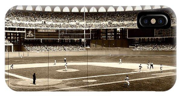 Philadelphia Phillies Stadium iPhone Case - Busch Stadium - St Louis 1966 by Mountain Dreams
