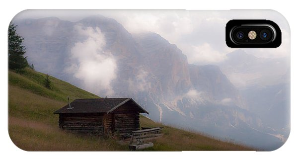 Cabin In The Dolomites IPhone Case