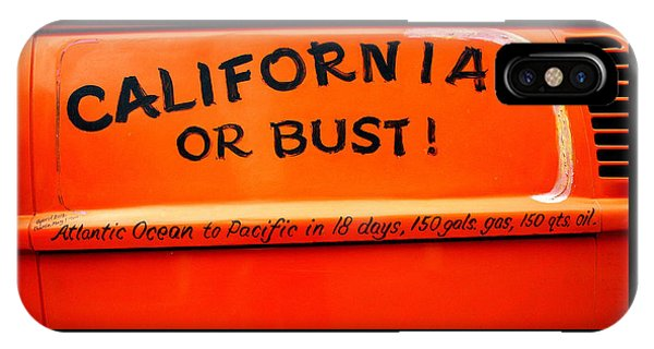 California Or Bust IPhone Case