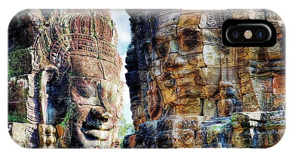 Angkor Thom iPhone Case - Cambodia, Angkor Watt, Siem Reap, Faces by Terry Eggers
