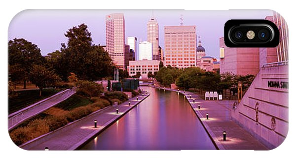 Canal In A City, Indianapolis Canal IPhone Case
