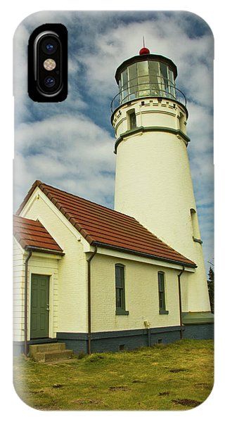 Port Orange iPhone Case - Cape Blanco Lighthouse, Cape Blanco by Michel Hersen