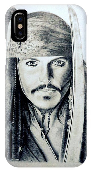 Johny Depp - The Captain Jack Sparrow Phone Case by Tanmay Singh