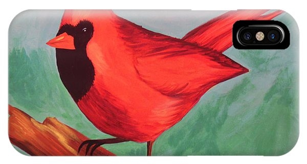 Cardinal Phone Case by Virginia Forbes