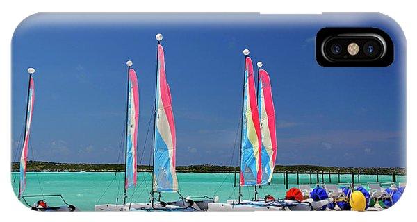 Catamaran iPhone Case - Caribbean, Bahamas, Castaway Cay by Kymri Wilt
