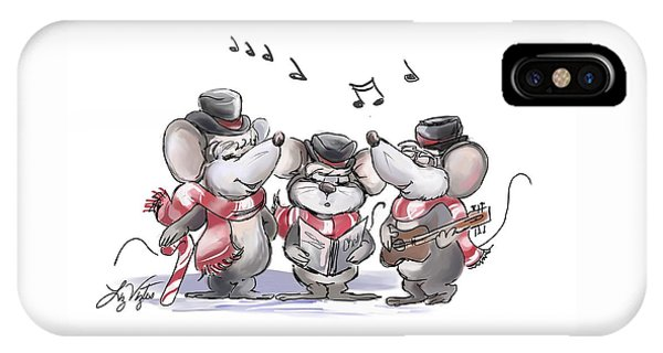 Caroling With Mic Mac And Moe IPhone Case