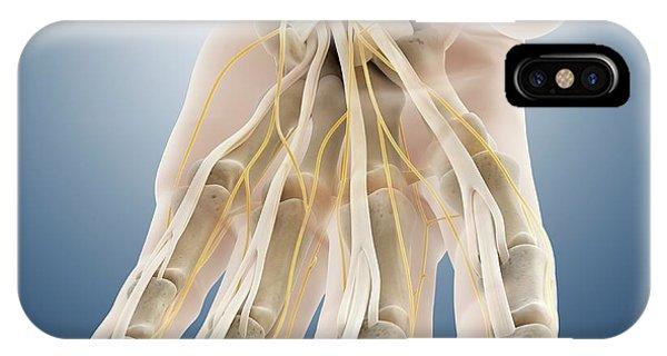 Nerves iPhone Case - Carpal Tunnel Wrist Anatomy by Springer Medizin