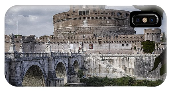 Ancient Rome iPhone Case - Castel Sant' Angelo by Joan Carroll