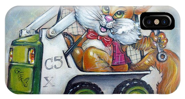Cat C5x 190312 IPhone Case