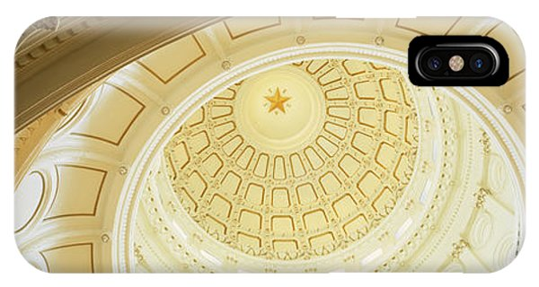 Capitol Building iPhone Case - Ceiling Of The Dome Of The Texas State by Panoramic Images