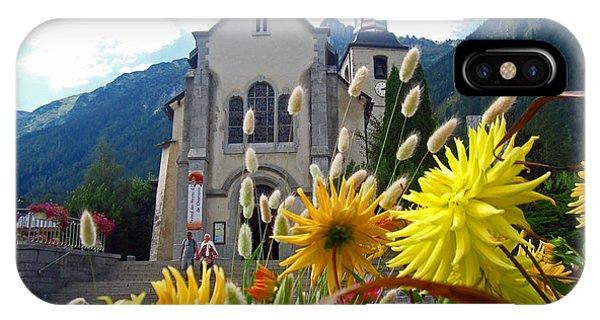 Buy Art Online iPhone Case - Chamonix Church by Alexandros Daskalakis