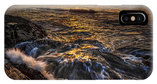 Chamoso Point In Ares Estuary Galicia Spain IPhone Case