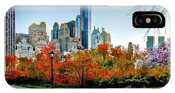 New York City Skyline iPhone Case - Changing Of The Seasons by Az Jackson