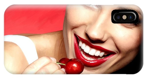 Cherry Girl IPhone Case