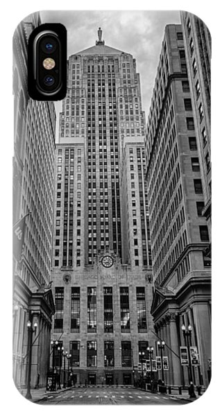 Chicago Skyline Art iPhone Case - Chicago Board Of Trade by Mike Burgquist