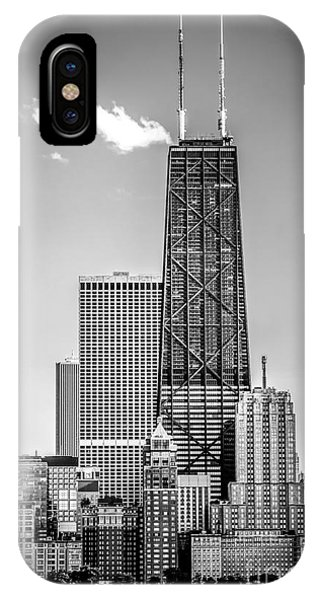 Chicago Hancock Building Black And White Picture IPhone Case