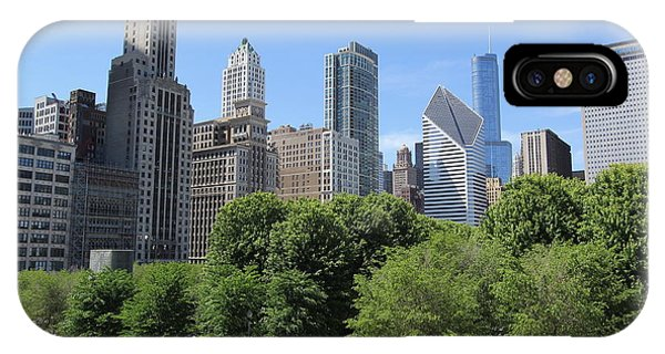 Chicago In Summer Phone Case by Michael Paskvan
